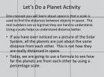 let s do a planet activity