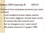 italiano 2 2h l esercizio 8 10 2 14