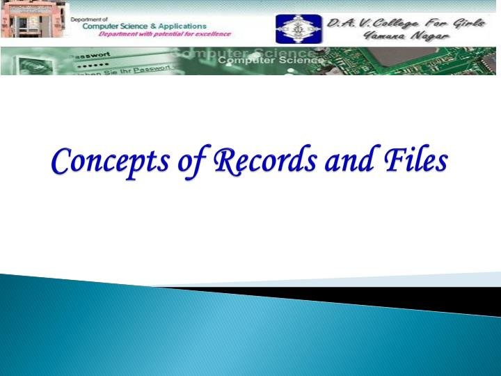 concepts of records and files n.
