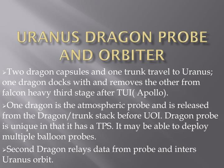 uranus dragon probe and orbiter n.