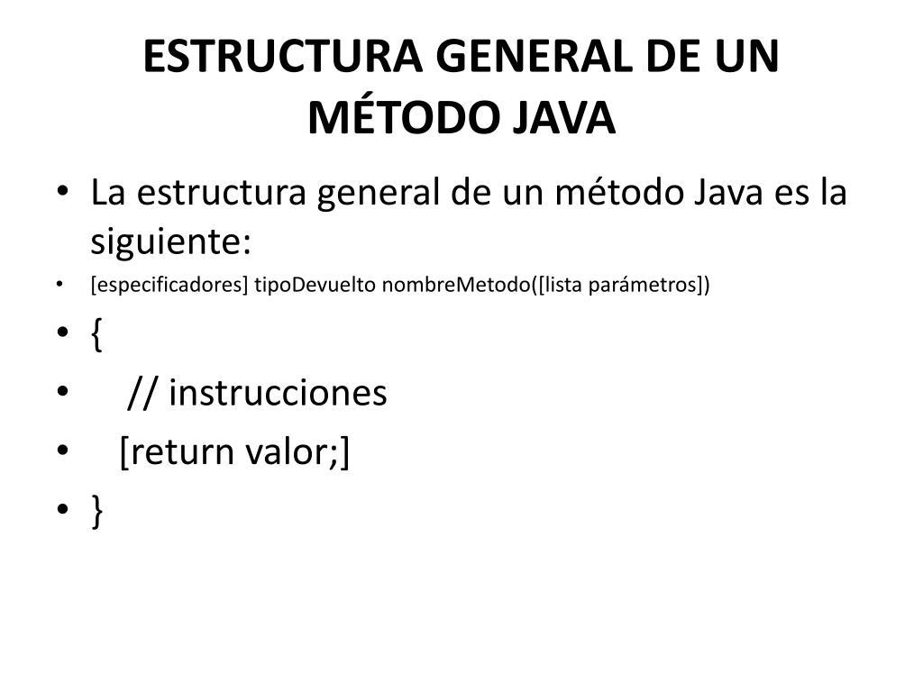 Ppt Método En Java Powerpoint Presentation Free Download