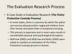 the evaluation research process