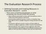 the evaluation research process9