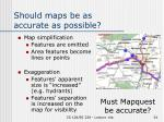 should maps be as accurate as possible