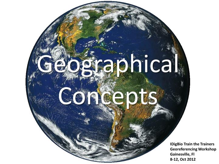 geographical concepts n.