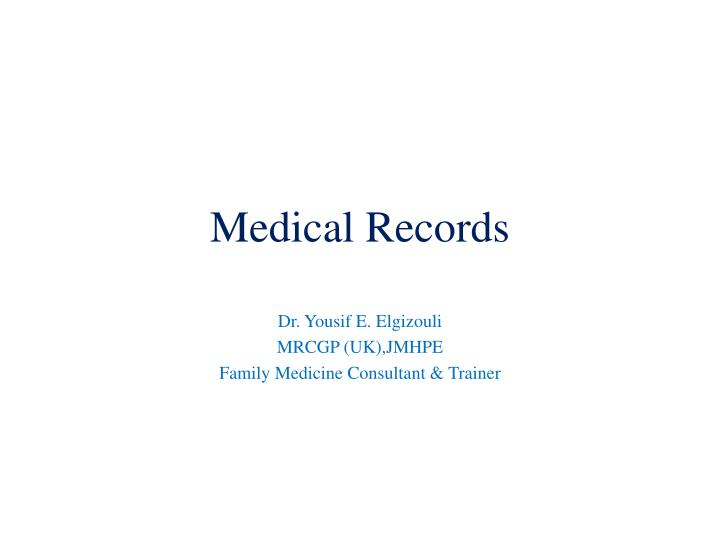 medical records n.