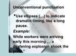 unconventional punctuation