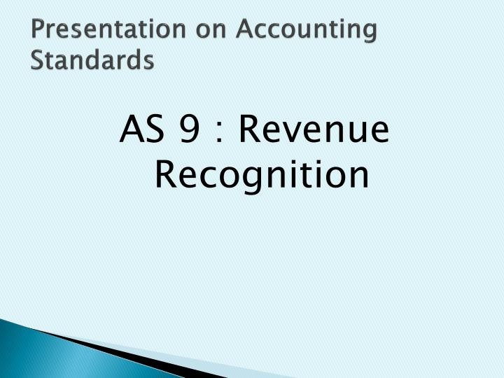 presentation on accounting standards n.
