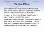 station datum
