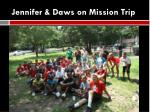 jennifer daws on mission trip