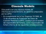 clausula modelo