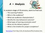 a analysis