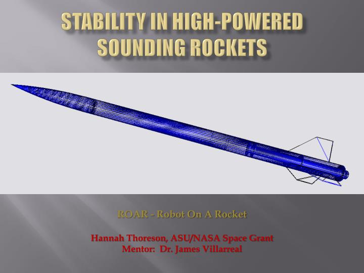 stability in high powered sounding rockets n.