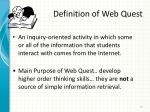 definition of web quest