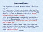 summary phrases