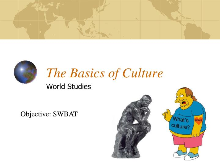 the basics of culture n.