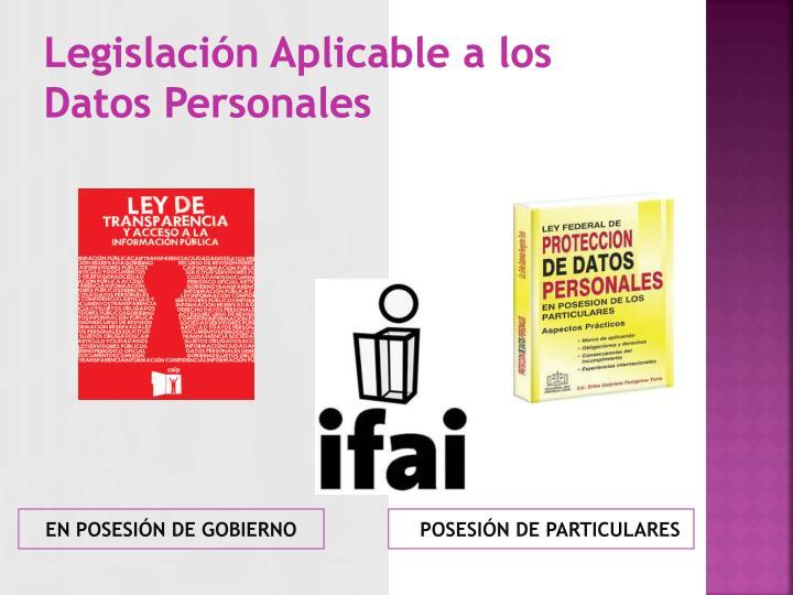 POSESIÓN DE PARTICULARES