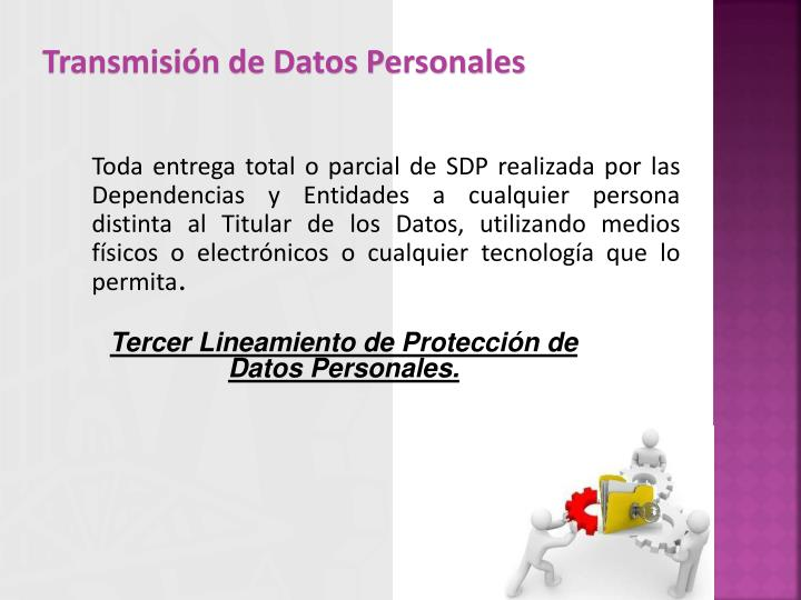Transmisión de Datos Personales