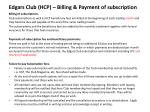 edgars club hcp billing payment of subscription