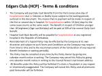 edgars club hcp terms conditions