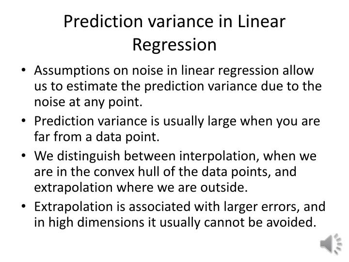 prediction variance in linear regression n.