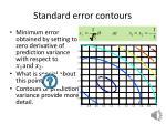 standard error contours