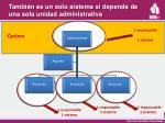 tambi n es un solo sistema si depende de una sola unidad administrativa