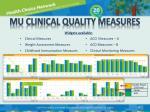 mu clinical quality measures