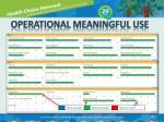 operational meaningful use