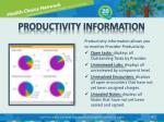 productivity information