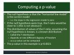 computing a p value