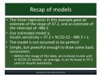 recap of models