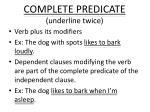 complete predicate underline twice