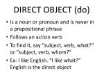 direct object do