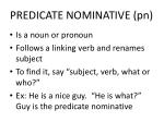 predicate nominative pn