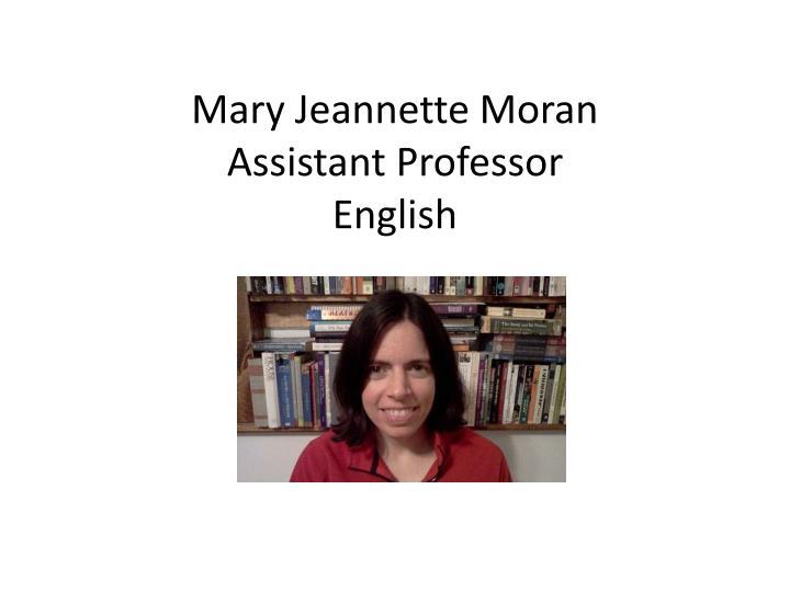 Mary Jeannette Moran