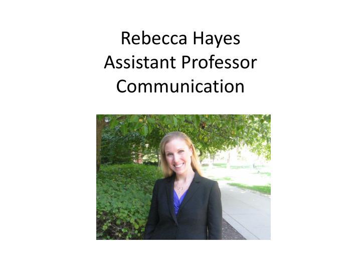 Rebecca Hayes