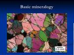basic mineralogy