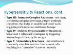 hypersensitivity reactions cont