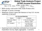 global trade analysis project gtap income elasticities