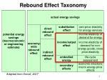 rebound effect taxonomy