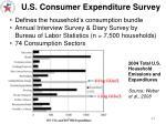 u s consumer expenditure survey