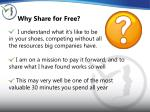 why share for free