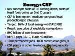 energy csp