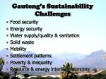 gauteng s sustainability challenges