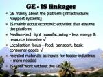 ge is linkages