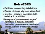 role of ded