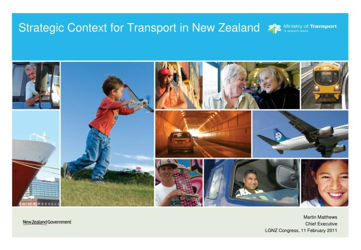 strategic context for transport in new zealand n.