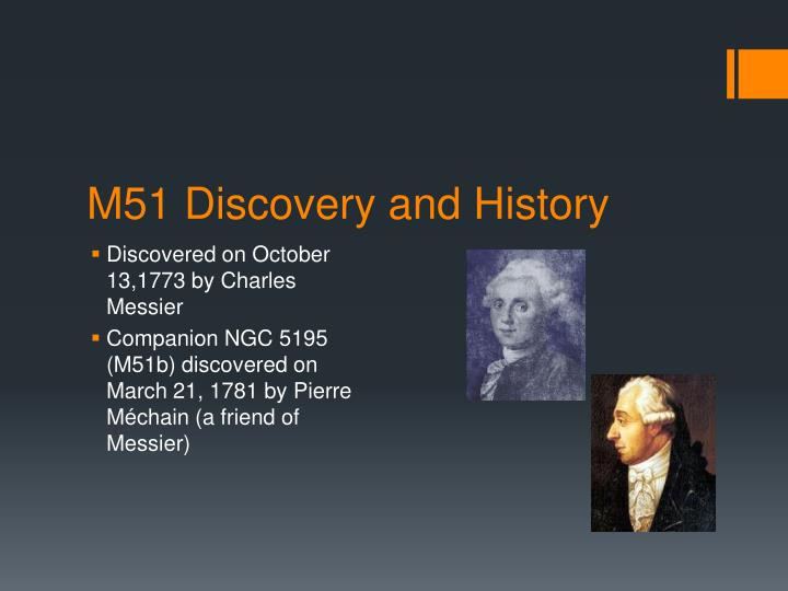 M51 discovery and history