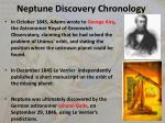 neptune discovery chronology
